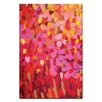 Artist Lane Mixed Pinks by Anna Blatman Art Print Wrapped on Canvas in Red