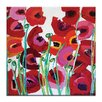 Artist Lane Mixed Poppy by Anna Blatman Art Print on Canvas in Red