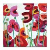 Artist Lane Poppy Mixed by Anna Blatman Art Print Wrapped on Canvas