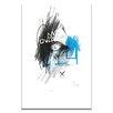 Artist Lane Leadlight by Steve Leadbeater Graphic Art on Canvas in White