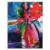 Artist Lane Floral Fantasy 26 by Kathy Morton Stanion Art Print Wrapped on Canvas