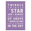 Artist Lane Twinkle, Twinkle Little Star by Nursery Canvas Art in Purple