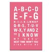 Artist Lane ABC by Nursery Canvas Art in Pink