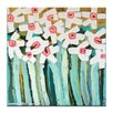 Artist Lane White Daisies by Anna Blatman Art Print Wrapped on Canvas