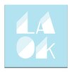 Artist Lane La Ok by Ayarti Typography Wrapped on Canvas in White