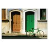 Artist Lane Doors of Italy - Due Porte by Joe Vittorio Photographic Print Wrapped on Canvas