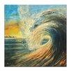 "Artist Lane Leinwandbild ""Last Wave"" von Jennifer Webb, Kunstdruck"