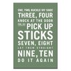 Artist Lane One, Two, Buckle My Shoe by Nursery Canvas Art in Green