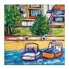 Artist Lane Boats by Anna Blatman Art Print Wrapped on Canvas