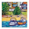 Artist Lane Boats by Anna Blatman Art Print on Canvas