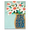 Artist Lane Blue and Gold Pot by Anna Blatman Art Print Wrapped on Canvas