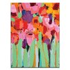 Artist Lane Field of Flowers by Anna Blatman Art Print Wrapped on Canvas