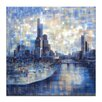 Artist Lane Nighttime Spire View by Jennifer Webb Art Print Wrapped on Canvas