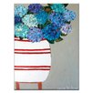 Artist Lane Blue Geraniums by Anna Blatman Art Print Wrapped on Canvas