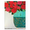 Artist Lane Red Geraniums by Anna Blatman Art Print Wrapped on Canvas in Red/Blue