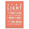 Artist Lane Star Light Star Bright by Nursery Canvas Art in Orange