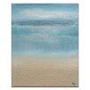 """Artist Lane Leinwandbild """"Winter Morning Mist on the Bay"""" von Karen Hopkins, Kunstdruck in Blau/Braun"""