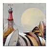 Artist Lane Boats by Olena Kosenko Graphic Art Wrapped on Canvas