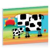 Artist Lane Moo Cow Sunrise by Karin Taylor Art Print on Canvas