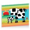 "Artist Lane Leinwandbild ""Moo Cow Sunrise"" von Karin Taylor, Grafikdruck"