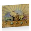 Artist Lane Elephant Blessing Natural Overlay by Karin Taylor Art Print Wrapped on Canvas