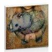 "Artist Lane Leinwandbild ""Paisley Elephant"" von Karin Taylor, Grafikdruck"