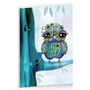 Artist Lane Little Blue Bird by Karin Taylor Art Print Wrapped on Canvas