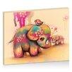 "Artist Lane Leinwandbild ""Vintage Tie Dye Elephants"" von Karin Taylor, Grafikdruck"