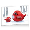 Artist Lane Little Red Robins by Karin Taylor Art Print on Canvas