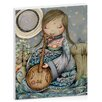 Artist Lane Moon Guitar by Karin Taylor Art Print Wrapped on Canvas