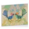 Artist Lane Little Love Birds Blue by Karin Taylor Art Print on Canvas