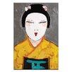 "Artist Lane Leinwandbild ""Sun Rise Geisha Close Up"" von Anna Blatman, Kunstdruck"