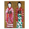 Artist Lane Spring Geisha 2 by Anna Blatman Art Print on Canvas