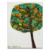 Artist Lane Round Tree by Anna Blatman Art Print on Canvas
