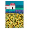 Artist Lane Sunflower Field by Anna Blatman Art Print on Canvas