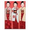 """Artist Lane Leinwandbild """"Three"""" von Anna Blatman, Kunstdruck"""