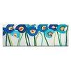 Artist Lane Blue Poppies 1 by Anna Blatman Art Print on Canvas