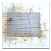 Artist Lane Linear Encaustic 3 by Gill Cohn Art Print on Canvas