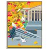 Artist Lane 'Autumn Library' by Alan Annells Graphic Art Wrapped on Canvas