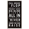 Artist Lane 'Poker' Framed Typography on Wrapped Canvas