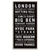 Artist Lane London 1' by Tram Scrolls Typography Unwrapped on Canvas