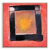 Artist Lane 'Black Box Eclipse' by Mario Burgoa Framed Art Print on Wrapped Canvas