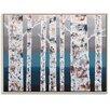 Artist Lane 'Birch at Dusk' by Sherren Comensoli Framed Art Print on Wrapped Canvas