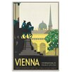 Artist Lane 'Vienna' Framed Vintage Advertisement on Wrapped Canvas