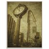 Artist Lane 'Flatiron Clock' by Andrew Paranavitana Photographic Print Wrapped on Canvas