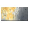 Artist Lane '50 Shades of Gray and Yellow' by Julie Ahmad Art Print Wrapped on Canvas