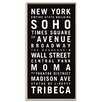 Artist Lane 'New York' by Tram Scrolls Framed Typography on Wrapped Canvas