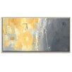 Artist Lane '50 Shades of Gray and Yellow' by Julia Ahmad Framed Art Print on Wrapped Canvas