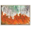 Artist Lane 'Autumn-Birches Ablaze' by Olivia Collins Framed Art Print on Wrapped Canvas