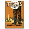 Artist Lane 'Texas' Vintage Advertisement Wrapped on Canvas